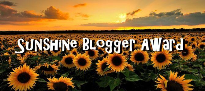 Sunshine Blogger Award 2018: sono stato nominato!
