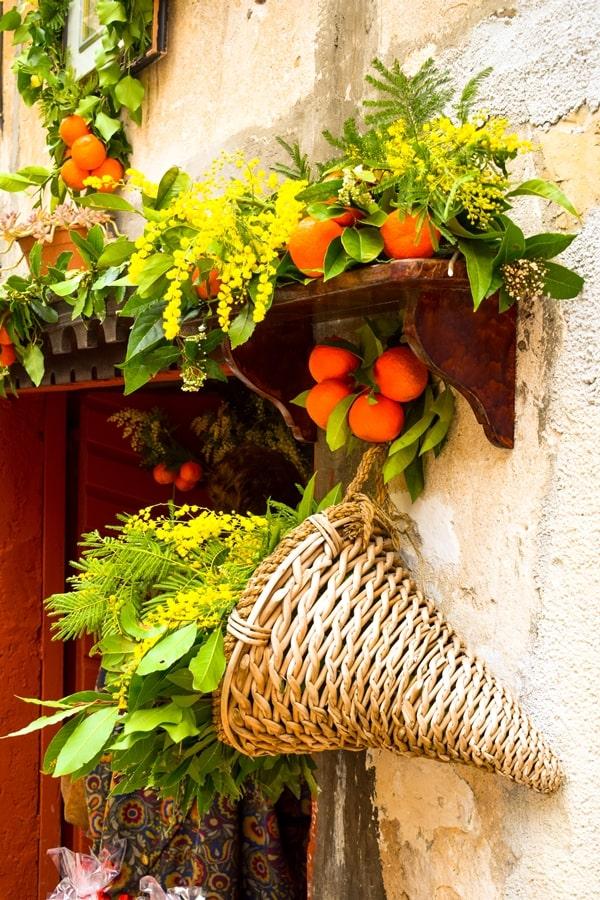 san-valentino-vico-del-gargano-decorazione-arance-mimose San Valentino a Vico del Gargano: la festa dell'amore e delle arance