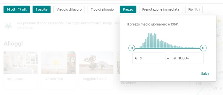 come-funziona-airbnb-filtro-prezzo Come funziona Airbnb: trovare alloggi in tutto il mondo