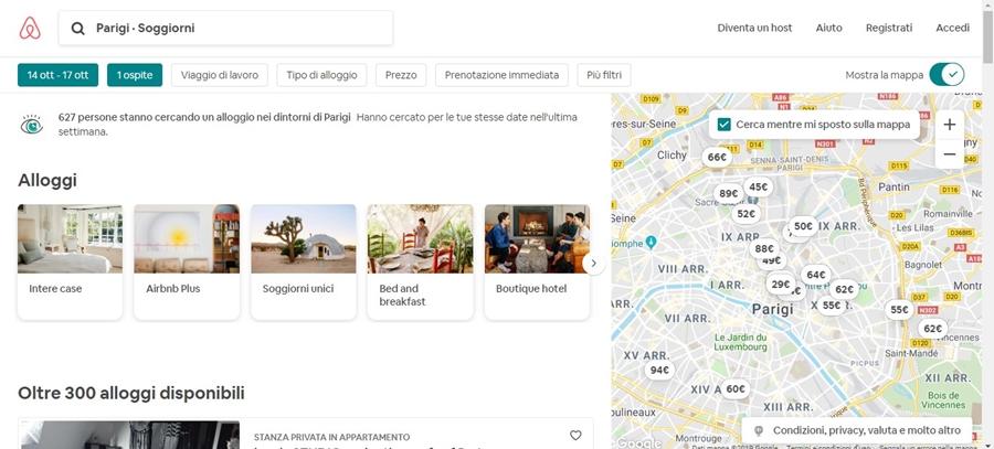 come-funziona-airbnb-rirultato-ricerca Come funziona Airbnb: trovare alloggi in tutto il mondo