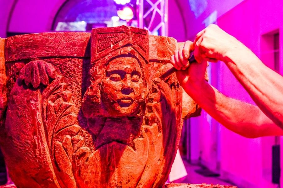 scultura-cioccolato-modica Chocomodica: la festa del cioccolato di Modica
