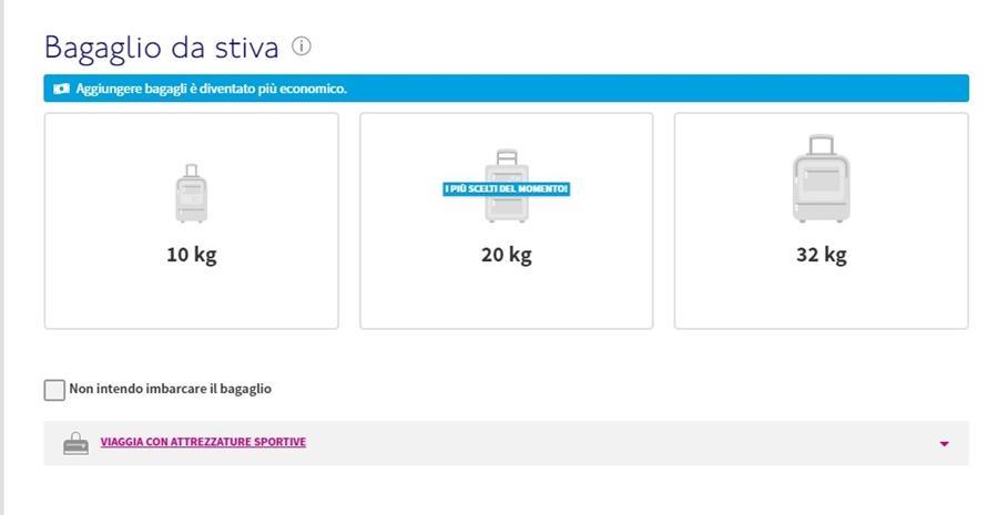 wizz-air-prenotazione-bagaglio-02 Bagaglio Wizz Air: dimensioni, peso e costi